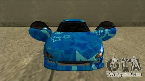 Mazda RX-7 Drift Blue Star for GTA San Andreas upper view