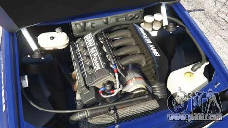 GTA 5 BMW M3 (E30) 1991 [Kings] v1.2 rear right side view