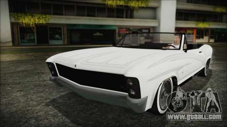 GTA 5 Albany Buccaneer Custom IVF for GTA San Andreas back view