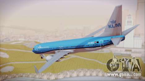 Boeing 737-800 KLM Royal Dutch Airlines for GTA San Andreas left view