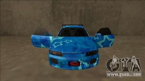 Nissan Skyline R33 Drift Blue Star for GTA San Andreas interior