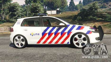 GTA 5 Volkswagen Golf Mk6 Dutch Police left side view