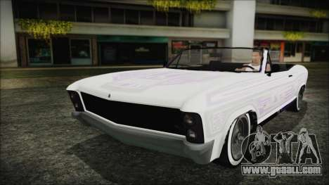GTA 5 Albany Buccaneer Hydra Version for GTA San Andreas inner view