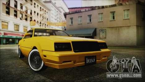 GTA 5 Willard Faction Custom Bobble Version IVF for GTA San Andreas