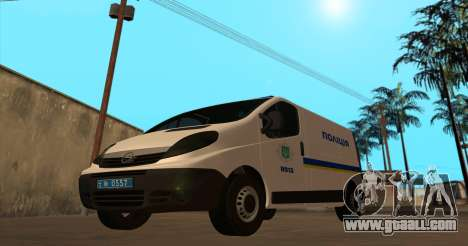 Opel Vivaro Police Of Ukraine for GTA San Andreas left view