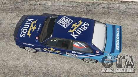 GTA 5 BMW M3 (E30) 1991 [Kings] v1.2 back view