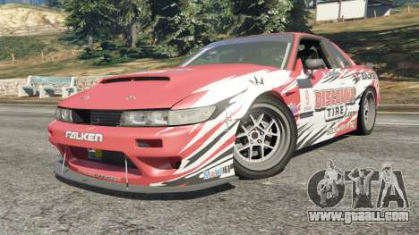 GTA 5 Nissan Silvia S13 v1.2 [with livery] right side view