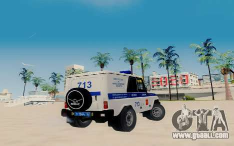 UAZ Hunter SPSP for GTA San Andreas back left view