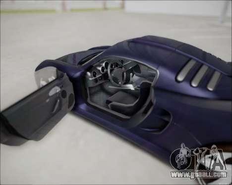 Ruf CTR 3 2015 for GTA San Andreas right view
