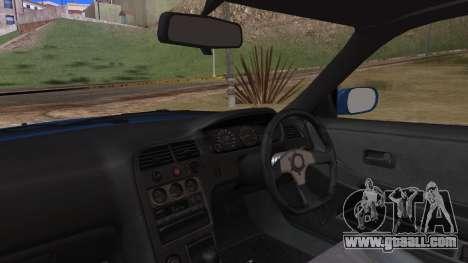 Nissan Skyline R33 Kantai Collection Kongou PJ for GTA San Andreas back view