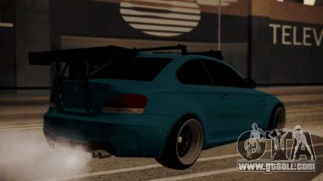 BMW 1M E82 with Sunroof for GTA San Andreas left view