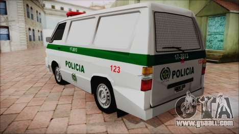 Mitsubishi L300 2008 Patrol Colombian Police for GTA San Andreas left view