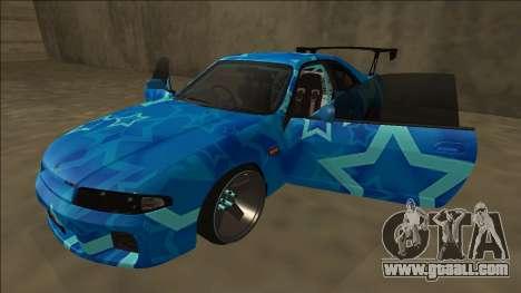 Nissan Skyline R33 Drift Blue Star for GTA San Andreas bottom view