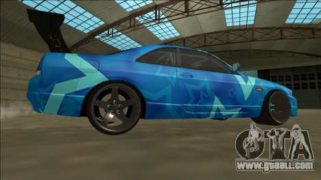 Nissan Skyline R33 Drift Blue Star for GTA San Andreas right view