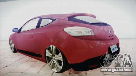 Renault Megane 3 for GTA San Andreas left view