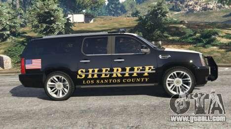 GTA 5 Cadillac Escalade ESV 2012 Police left side view