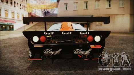 McLaren F1 GTR 1998 for GTA San Andreas inner view