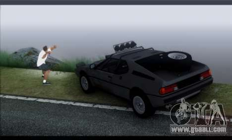 BMW M1 E26 Rusty Rebel for GTA San Andreas inner view