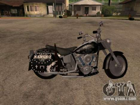 Harley Davidson Fat Boy Sons Of Anarchy for GTA San Andreas