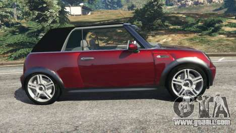 GTA 5 Mini Cooper S Convertible v0.2 left side view
