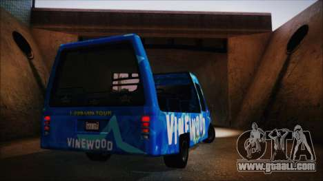 Vinewood VIP Star Tour Bus (Fixed) for GTA San Andreas right view