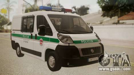 Fiat Ducato Lithuanian Police for GTA San Andreas