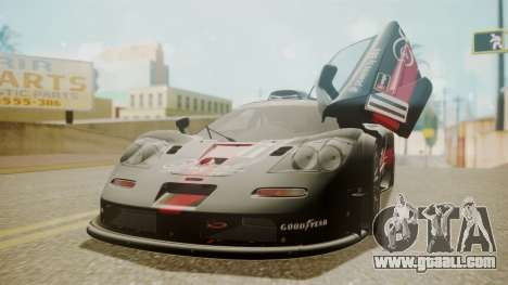 McLaren F1 GTR 1998 Day Off for GTA San Andreas bottom view