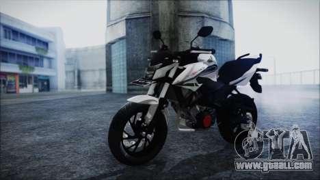 Honda CB150R White for GTA San Andreas