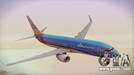 Boeing 737-800 KLM Royal Dutch Airlines for GTA San Andreas back left view