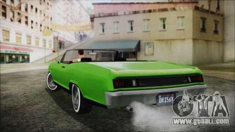 GTA 5 Albany Buccaneer Hydra Version IVF for GTA San Andreas left view