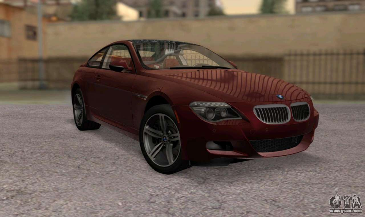 bmw m6 e63 for gta san andreas. Black Bedroom Furniture Sets. Home Design Ideas