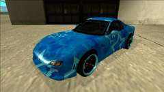 Mazda RX-7 Drift Blue Star for GTA San Andreas