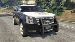 Cadillac Escalade ESV 2012 Police for GTA 5
