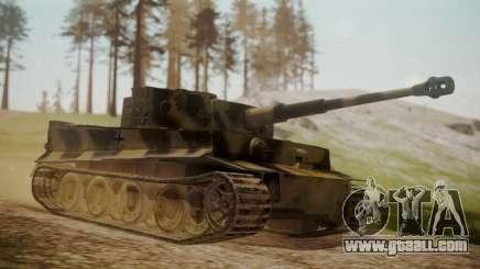Panzerkampfwagen VI Tiger Ausf. H1 No Interior for GTA San Andreas