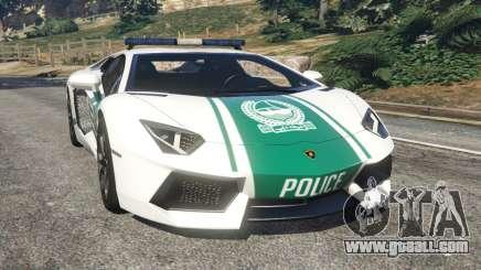 Lamborghini Aventador LP700-4 Dubai Police v5.5 for GTA 5