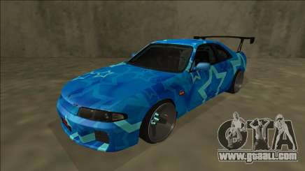 Nissan Skyline R33 Drift Blue Star for GTA San Andreas