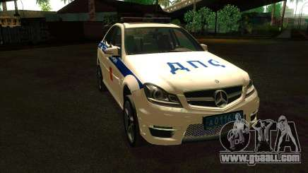 Mercedes-Benz C63 AMG ДПС for GTA San Andreas