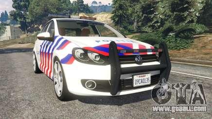 Volkswagen Golf Mk6 Dutch Police for GTA 5
