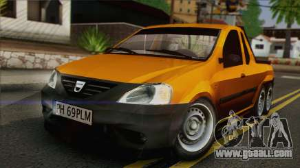 Dacia Logan Pickup 6x6 for GTA San Andreas