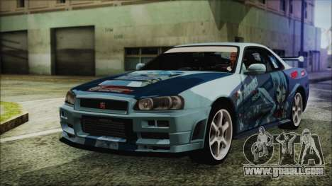 Nissan Skyline R34 Itasha for GTA San Andreas