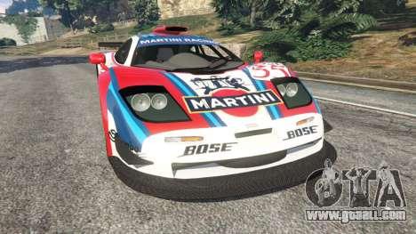 McLaren F1 GTR Longtail [Martini Racing] for GTA 5