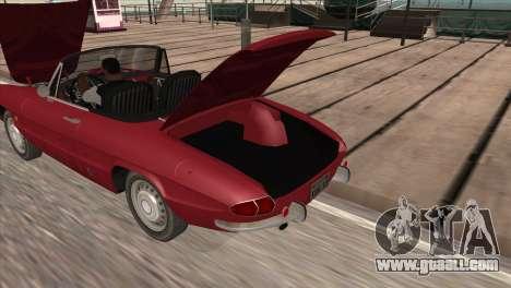 1966 Alfa Romeo Spider Duetto [IVF] for GTA San Andreas back left view