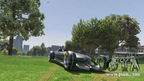 GTA 5 Mercedes-Benz Silver Lightning - Add-on back view