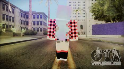 Minecraft Female Skin Edited for GTA San Andreas third screenshot