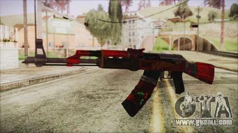 Xmas AK-47 for GTA San Andreas