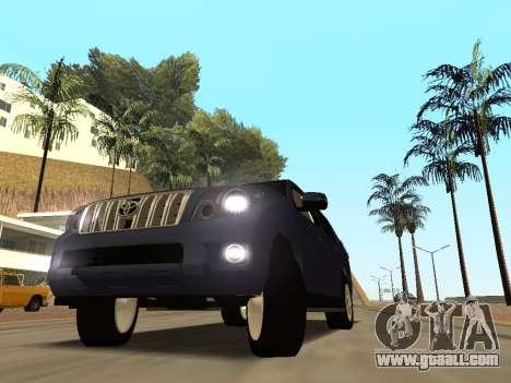 Toyota Land Cruiser Prado for GTA San Andreas inner view