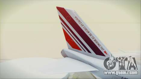 Boeing 747-128B Air France for GTA San Andreas back left view