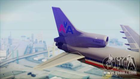 Lockheed L-1011 Tristar American Airlines for GTA San Andreas back left view