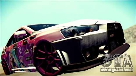 Mitsubishi Lancer Evolution Miku X Luka Itasha for GTA San Andreas back view