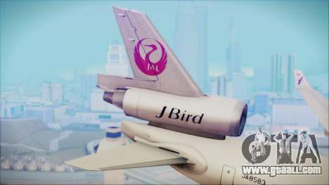 McDonnell-Douglas MD-11 Japan Airlines for GTA San Andreas back left view